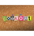 Cookout Concept vector image vector image
