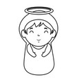 cute virgin mary character vector image vector image