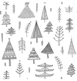 decorated christmas trees seamless pattern vector image vector image