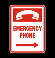 emergency call phone icon vector image vector image