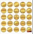 empty golden labels vector image vector image