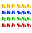 flags four colors angle vector image