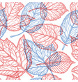 floral pattern decorative leaves nature concept vector image