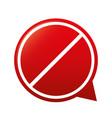 forbidden sign icon vector image vector image