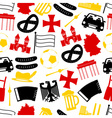 germany country theme symbols seamless pattern vector image vector image