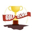 golf club championship trophy vector image vector image