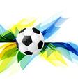 grunge style soccer background vector image