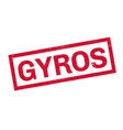 Gyros rubber stamp vector image vector image