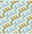 hand drawn sale pattern doodle discount shopping vector image vector image