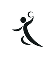 Handball player symbol for download vector image vector image