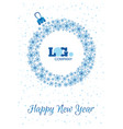 happy new year card template for your business vector image