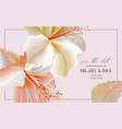 hibiscus flower tender pastel template big bud vector image