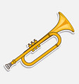 horn - music wind instrument musical equipment vector image