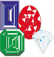 isolated colorful gemstones vector image