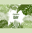 landscape frame tropical leaves vector image vector image