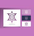 letter av logo design template with star icon