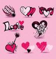 love item Doodles vector image vector image