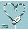 love portable devices vector image vector image