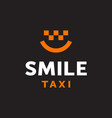 modern professional logo smile taxi in black vector image