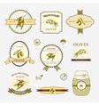 Olives set of label design and templates vector image