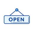 open door sign line icon vector image