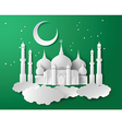 Paper of Mosque vector image vector image