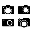 Photography Camera Black Silhouettes vector image vector image