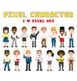 pixel characters i love art vector image