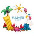 plasticine summer camp concept vector image vector image