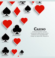 Playing Cards symbol background Casino cards vector image