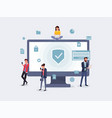privacy protection concept vector image vector image