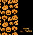 pumpkin vert black vector image vector image