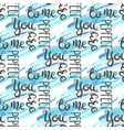 Romantic quote seamless pattern Love text for vector image vector image