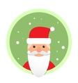 Santa Claus flat icon on green circle vector image