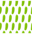 seamless pattern with cute cartoon cucumbers on vector image