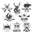 set hunt club labels monochrome badges vector image vector image