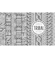 set of six ethnic seamless patterns tribal vector image