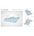 set saudi arabia country isometric 3d map vector image
