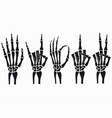 skeleton hand set vector image vector image
