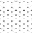soccer ball seamless pattern vector image vector image