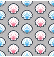 summer seamless pattern with seashell vector image