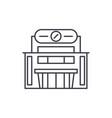 supermarket line icon concept supermarket vector image vector image