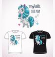 sweet pony princess little cute cartoon horse vector image vector image