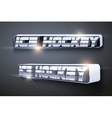 The word Hockey Symbol of sport vector image
