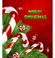 traditional christmas background vector image vector image