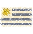Uruguayan grunge flag vector image vector image