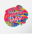 valentines day artistic hand drawn greeting card vector image vector image