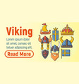 viking concept banner cartoon style vector image