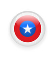 voting round badge with american flag vector image vector image