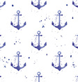 Watercolor seamless pattern with anchors vector image vector image